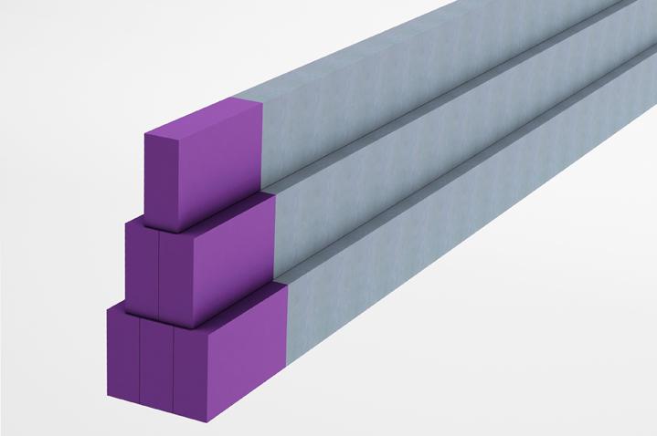 Bloco Manifold - barra retangular